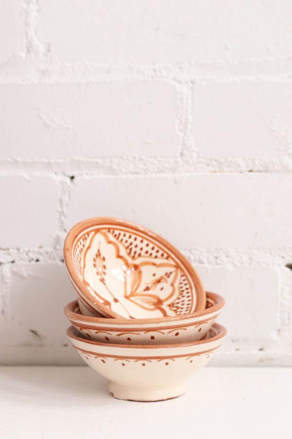 small terracotta bowl handmade baba souk